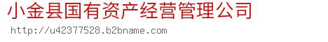 小金县国有资产经营管理公司
