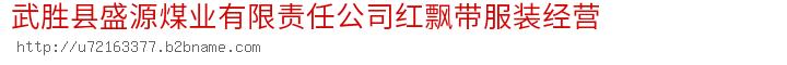 武胜县盛源煤业有限责任公司红飘带服装经营