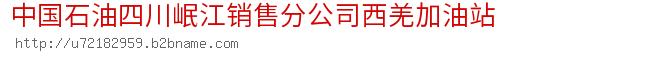 中国石油四川岷江销售分公司西羌加油站